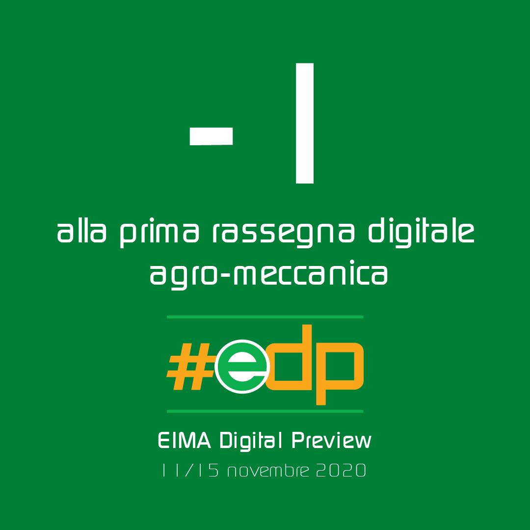 – 1 alla Prima Fiera Digitale EIMA!  Non possiamo vederci di persona? Vieni a tr…